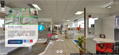 Virtual Tour Arredo Bagno E Accessori In Val D'Aosta